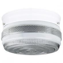 Sunset F3276-30 - 6-3/4IN CLR & WHT DRUM FIXTURE WH