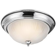 Kichler 8655CH - Three Light Chrome Bowl Flush Mount