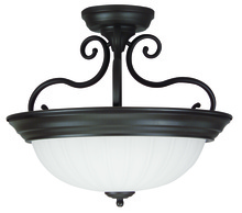 Craftmade X124-MO - Brown Bowl Semi-Flush Mount