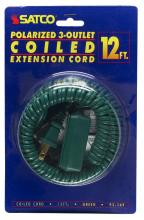 Satco Products Inc. 93/169 - 12 FT. Coiled (Extended) Extension CordsAll extension cords rated at 13A 125V 1625 watts maximum and