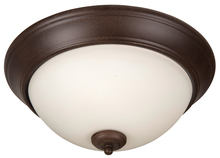 "Jeremiah XP15AG-3W - Pro Builder 3 Light 15"" Flushmount in Aged Bronze Textured"