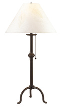 "CAL Lighting BO-903TB - 32"" Height Iron Table Lamp In Black"